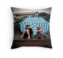 ...fun trip down the coast... Throw Pillow