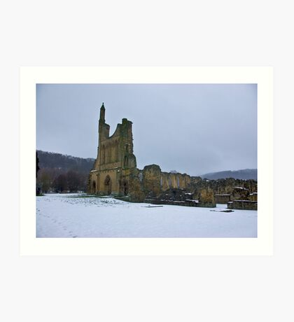 Winter at Byland Abbey Art Print