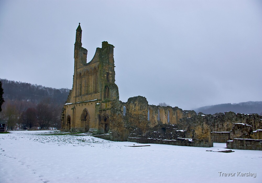 Winter at Byland Abbey by Trevor Kersley