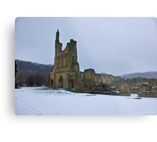 Winter at Byland Abbey Metal Print