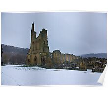 Winter at Byland Abbey Poster