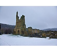 Winter at Byland Abbey Photographic Print