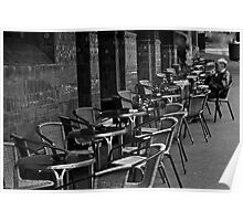 Table for one- sidewalk cafe Poster