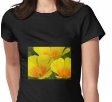 California Poppies Womens Fitted T-Shirt