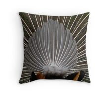 I'm a fan- peacock from the rear Throw Pillow