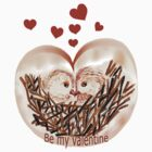 Valentine Love Nest T Shirt  by Trish Loader