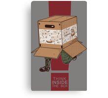 Think INSIDE the box. Canvas Print