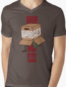 Think INSIDE the box. Mens V-Neck T-Shirt