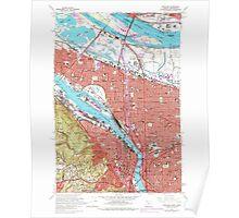 USGS Topo Map Oregon Portland 281136 1961 24000 Poster