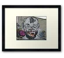Lister Gets His Fangs Framed Print