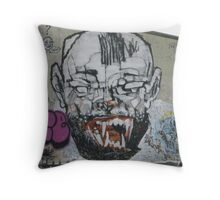 Lister Gets His Fangs Throw Pillow