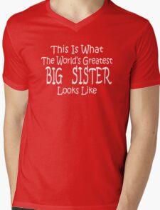 Worlds Greatest BIG SISTER Birthday Christmas Gift Mens V-Neck T-Shirt