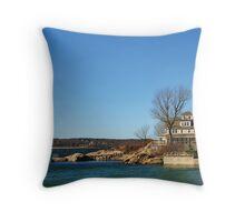 House At Niles Beach, Gloucester, Massachusetts Throw Pillow