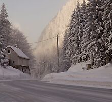 Winter in the Alps. by imagic