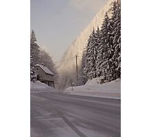 Winter in the Alps. Photographic Print