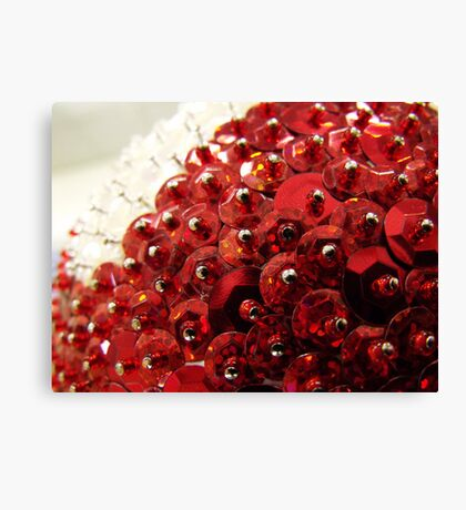 Red Encrusted Canvas Print