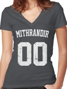 Team Mithrandir Women's Fitted V-Neck T-Shirt