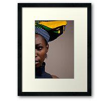 Split in half Framed Print