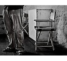 Legs and Chair Photographic Print