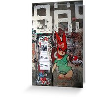red bunny in Berlin Greeting Card