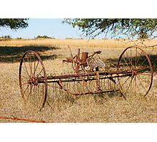 Old Farm Implements in Somervell County, Texas Photographic Print