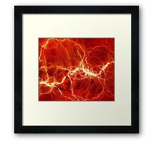 Red L Framed Print
