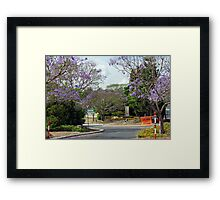 A Brisbane Suburban Street Framed Print