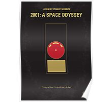 No003 My 2001 A space odyssey minimal movie poster Poster