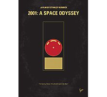 No003 My 2001 A space odyssey minimal movie poster Photographic Print