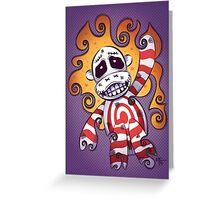 Sock Monkey Swirl Greeting Card