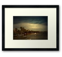 Good Night Delray Beach Framed Print