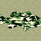 Camo Bass - Blank Greeting Card by Marcia Rubin