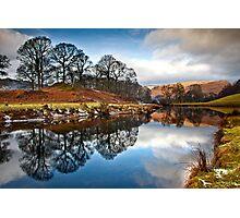 Winter sunlight on distant fells Photographic Print
