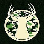 Camo Buck - Blank Greeting Card  by Marcia Rubin