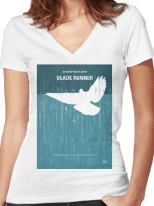 No011 My Blade Runner minimal movie poster Women's Fitted V-Neck T-Shirt