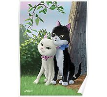 two romantic cats in love Poster