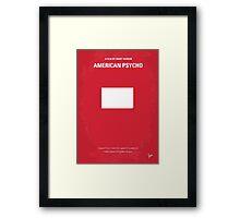 No005 My American Psycho minimal movie poster Framed Print
