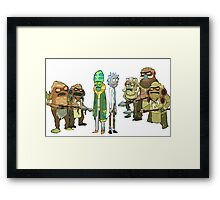 Tree people and Rick Framed Print