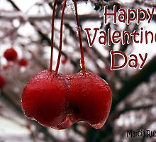 Two of a Kind - Blank Valentines Day Card  by Marcia Rubin
