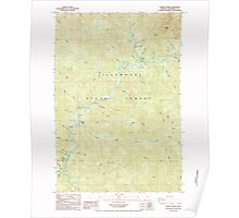 USGS Topo Map Oregon Jordan Creek 280343 1984 24000 Poster