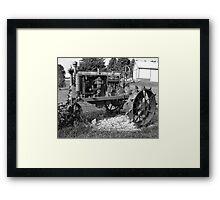 Antique Farmall Tractor Framed Print