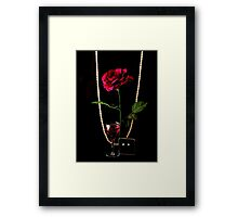 RED ROSE..RED WINE..  DIAMONDS & PEARLS Framed Print