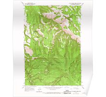 USGS Topo Map Oregon Little Beaver Creek 280538 1965 24000 Poster