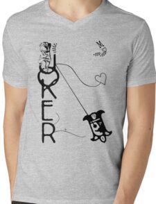 Joker Monkey Mens V-Neck T-Shirt