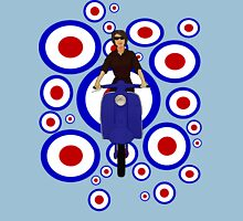 Retro Scooter Girl Womens Fitted T-Shirt