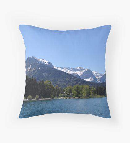Goat Haunt Throw Pillow