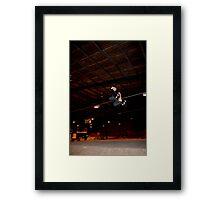 Huge Grab Air Over Death Box Framed Print