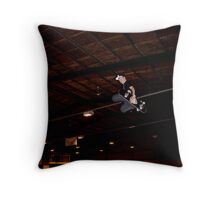 Huge Grab Air Over Death Box Throw Pillow