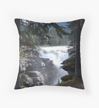 Falls in the Forest Throw Pillow