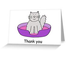 Thank you for looking after the cat. Greeting Card